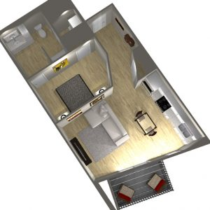 Type C - 1 Bedroom Floor Plan - Art Bloc