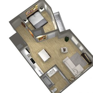 Type D - 1 Bedroom Floor Plan - Art Bloc