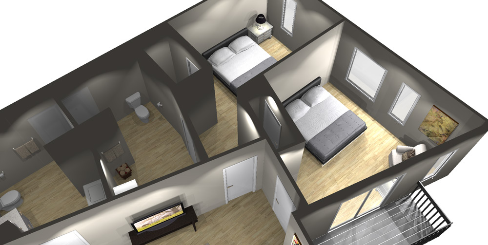 2 Bedroom Floor Plan - Art Bloc